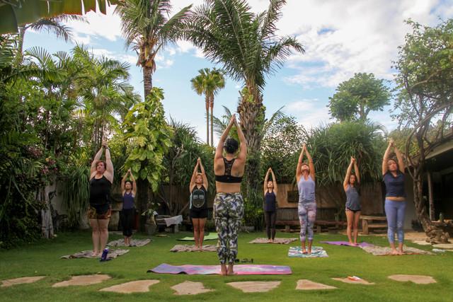 Yoga at our private villa