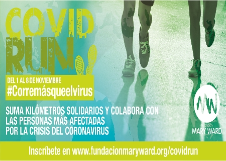 Del 1 al 8 de Noviembre puedes sumar kilómetros en la CovidRUN de la Fundación Mary Ward