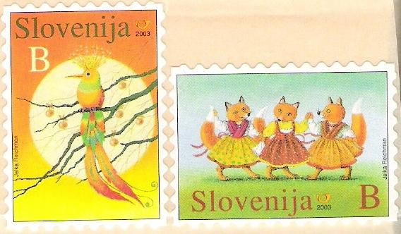 Slovenia stamps CHILD-S-BOOK-FIGURE