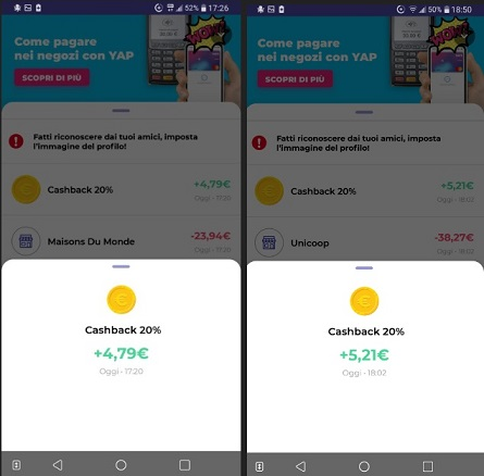 YAP L'App gratuita che ti restituisce denaro! CASHBACK RESTITUZIONE DENARO SU USO CONTO! - Pagina 2 2020-01-04-yap-4r
