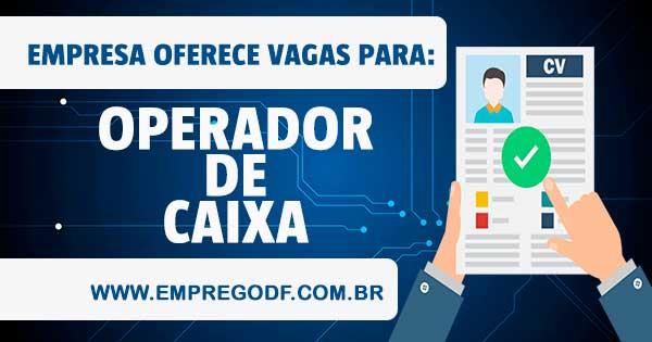 EMPREGO PARA OPERADOR DE CAIXA – CONTRATO TEMPORÁRIO
