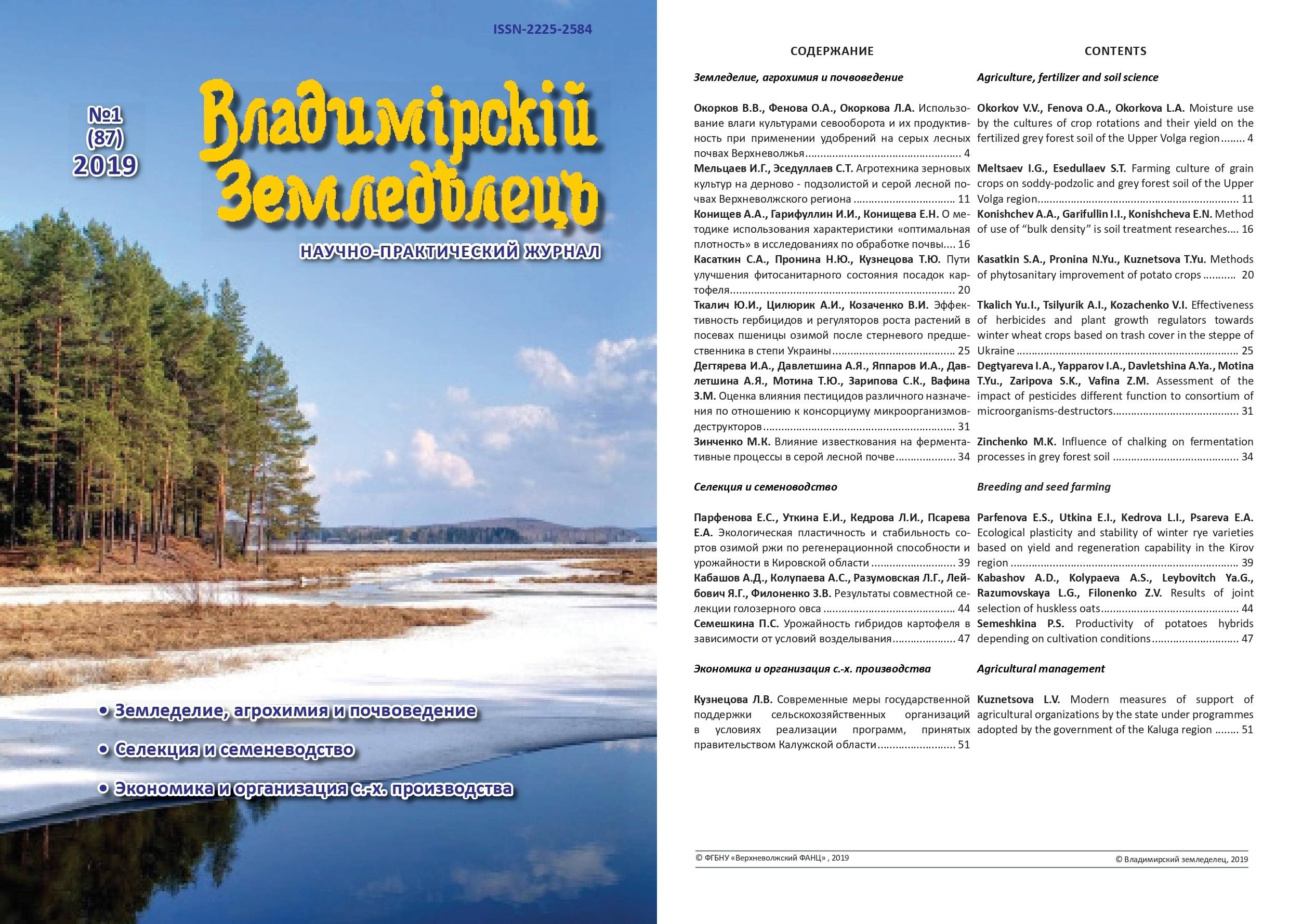 Владимирский земледелец 1(87) 2019