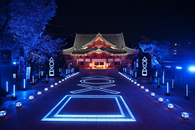 PS5將在明天正式於日本發售,於是今天索尼在神田明神舉辦了PS5的發售紀念活動用PS5的燈光點亮神田明神,這活動開始於今天六點到午夜12點。 Image