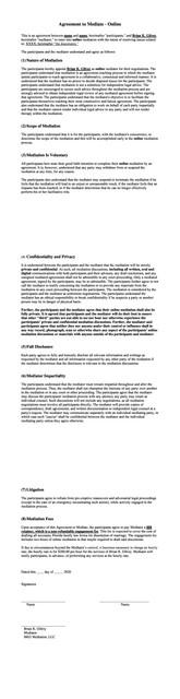 Agreement-to-Mediate-Online-Sample
