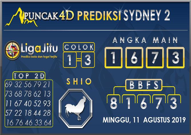 PREDIKSI TOGEL SYDNEY2 PUNCAK4D 11 AGUSTUS 2019