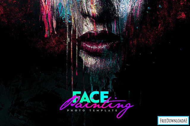 Face Painting Photo Template Free Download