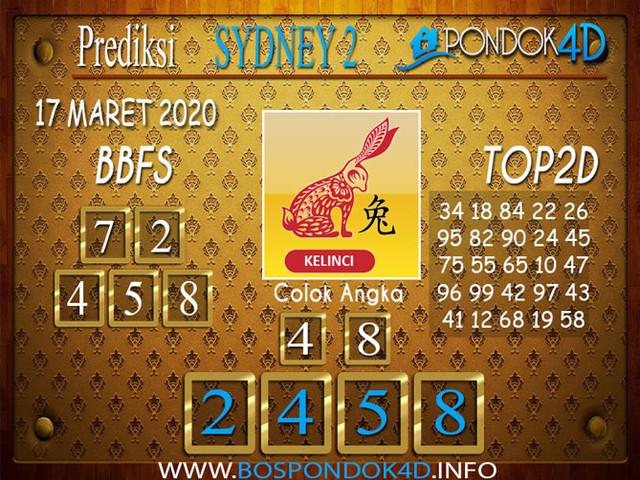 Prediksi Togel SYDNEY 2 PONDOK4D 17 MARET 2020