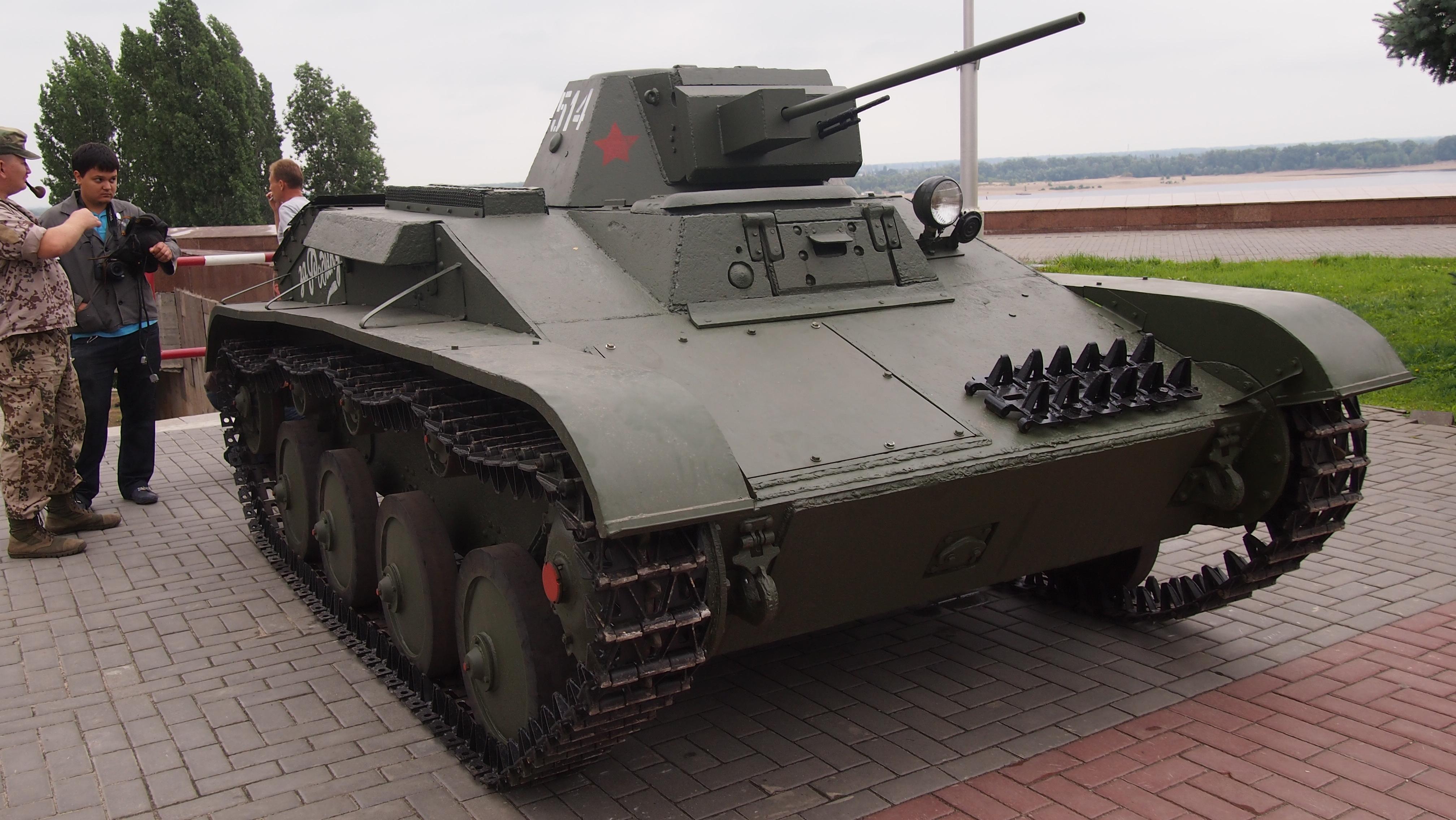 The restored tank