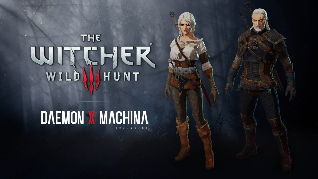 THE WITCHER III: WILD HUNT Geralt of Rivia & Ciri Join DAEMON X MACHINA As Free Cosmetic DLC