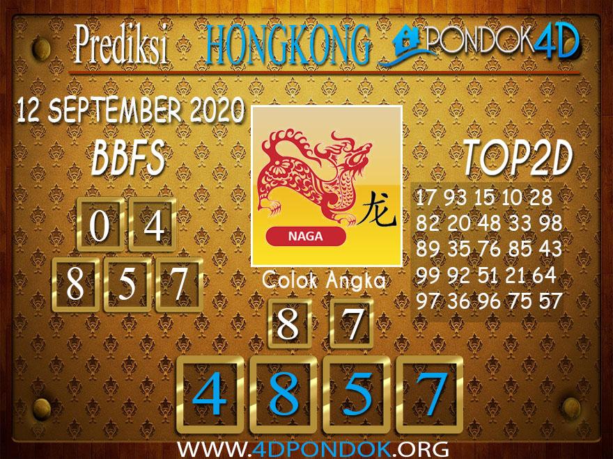 Prediksi Togel HONGKONG PONDOK4D 12 SEPTEMBER 2020