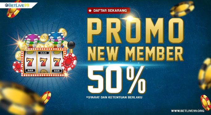 Promo New Member 50%