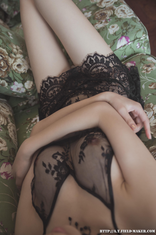 Tsubaki Album vol.006 Sheer lace pajamas 怠いお昼のパジャマ少女 sexy-nightdress-5