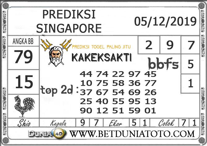 PREDIKSI TOGEL SINGAPORE DUNIA4D 05 DECEMBER 2019