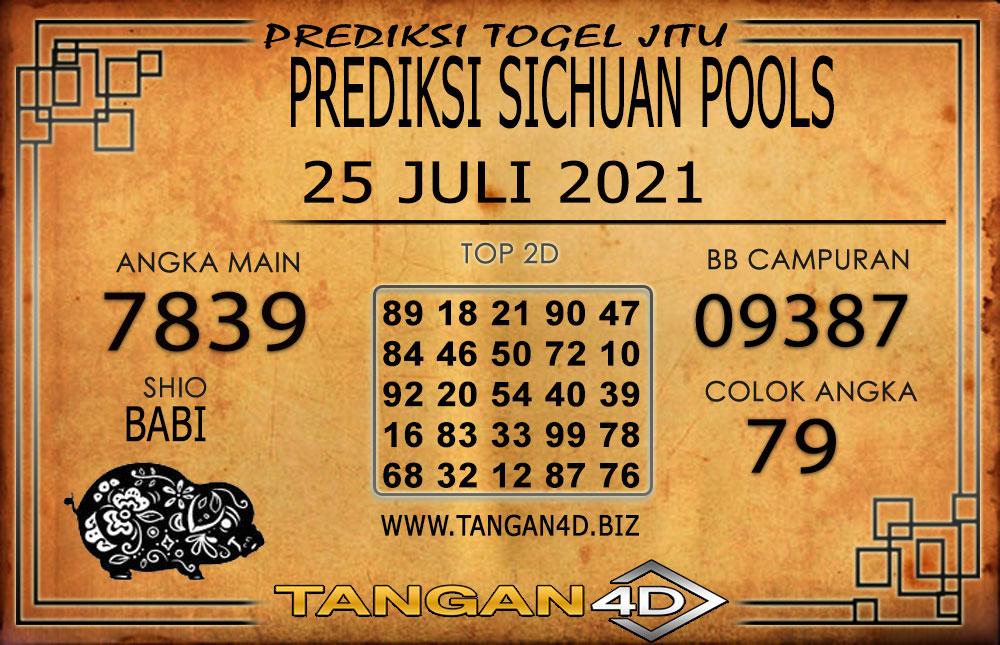 PREDIKSI TOGEL SICHUAN TANGAN4D 25 JULI 2021