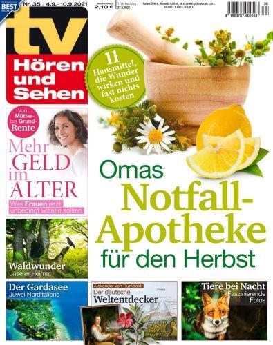 Cover: Tv Hören und Sehen Fernsehzeitschrift  No 35 vom 27  August 2021
