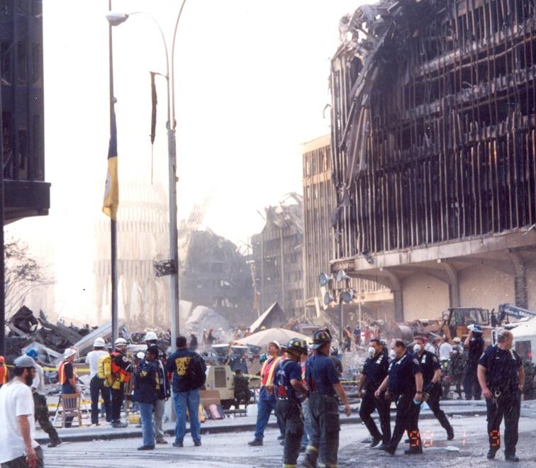Foto tomada por un agente del Servicio Secreto en la Zona Cero tras los atentados del 11-S