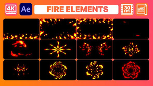 Fire Elements And Backgrounds | After Effects 30375515 - Project & Script (Videohive)