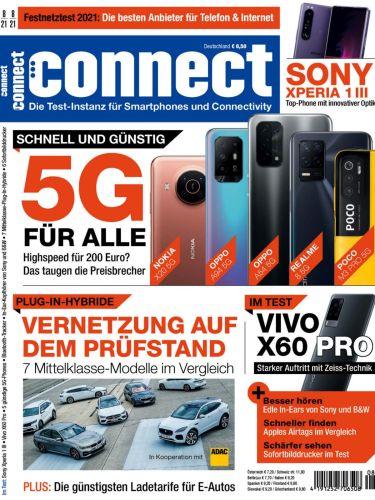 Cover: Connect Magazin für Telekommunikation No 08 2021