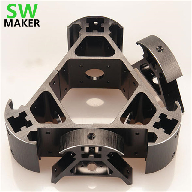 SWMAKER-colorido-todo-metal-3-D-Kossel-impresora-2020-aleaci-n-de-aluminio-delta-ngulo-esquina-kit