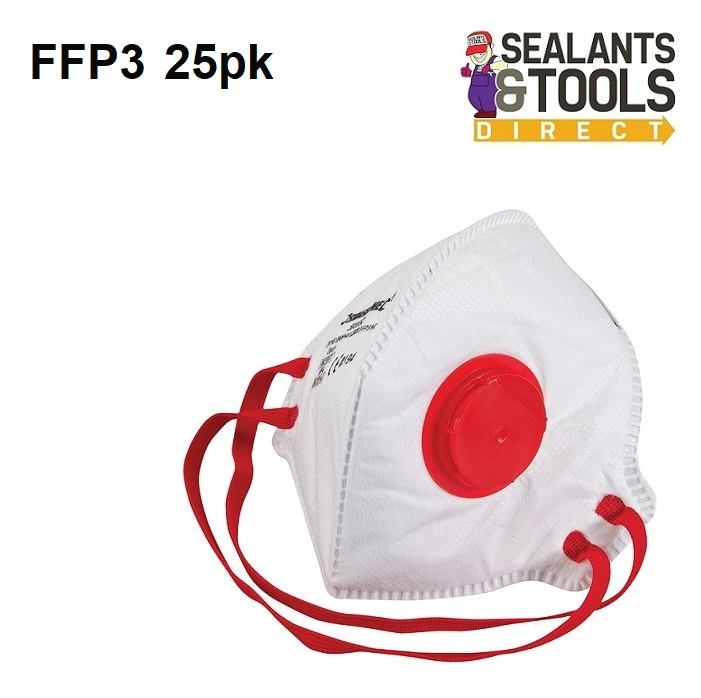 Silverline-FFP3-NR-Fold-Flat-Valved-Face-Mask-633895-Box-25