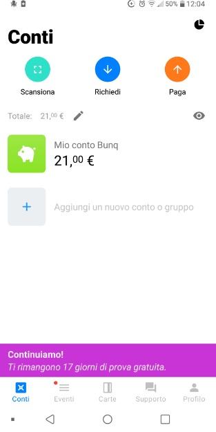 Bunq! 3 Bellissime carte +Bonifici Istantanei e 25 IBAN usa e getta INCLUSI + PROMO 10,00 € DI APERTURA 2019-Set-18-Prelievo0