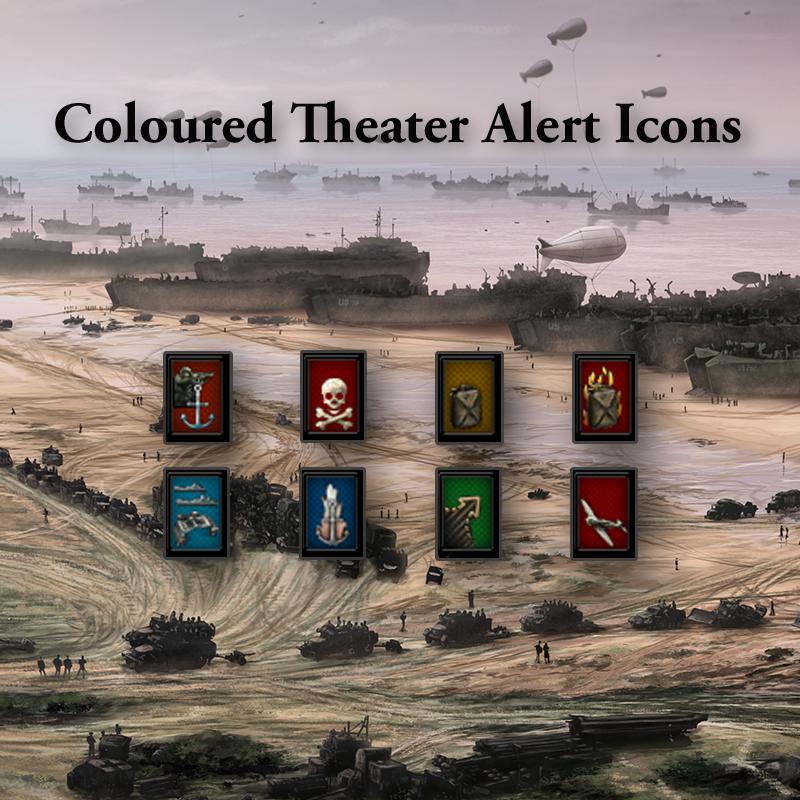 Coloured Theater Alert Icons / Цветные значки оповещения