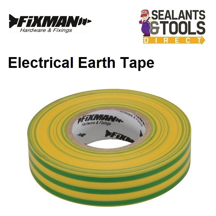 Fixman UK Electrical Insulation Earth Tape Green Yellow 192227