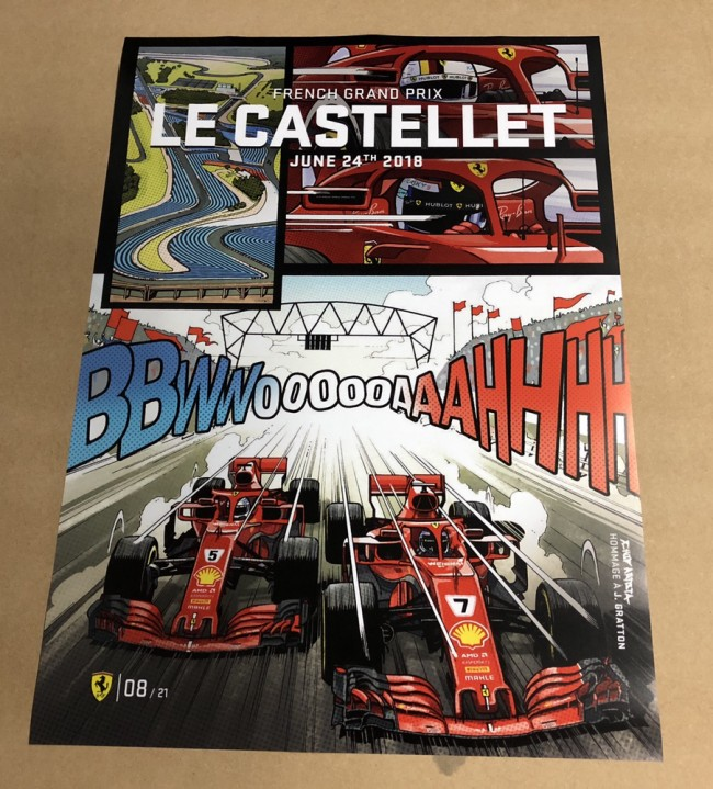 2018 FRANCE F1 GRAND PRIX RACE POSTER
