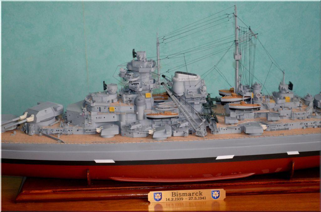 Bismarck au 1/200eme - Maquette Hachette/Amati Bismarck-08