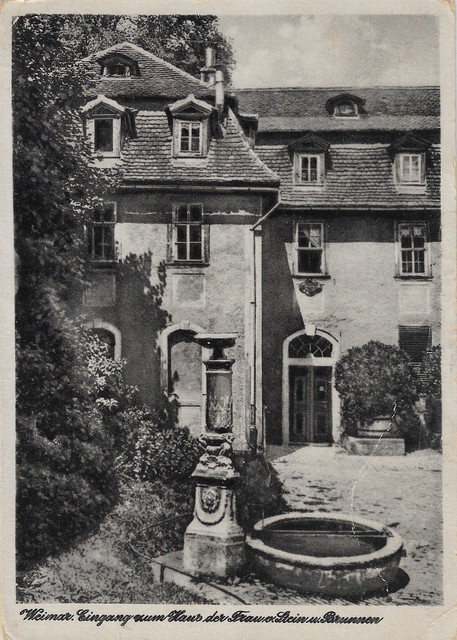 Germany-1957-B-W-postcard-Weimar-OMA-WROTE-IT-Wentzell-Family-interest-FRONT-NFS-TSF-1-19