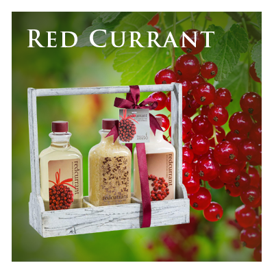 Bath Body and Spa Gift Sets in Relaxing Red Currant Perfect for Women