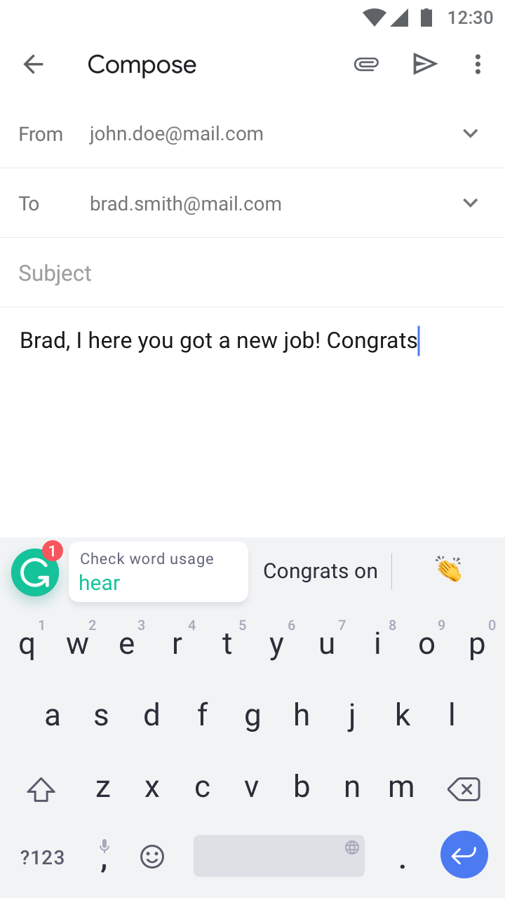 The-Grammarly-Keyboard-Android