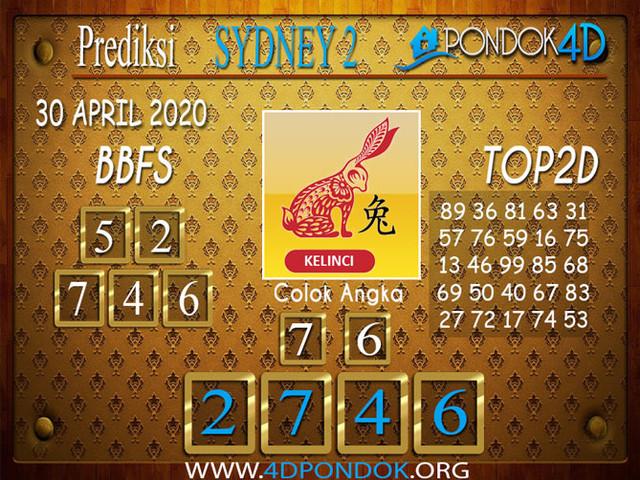 Prediksi Togel SYDNEY 2 PONDOK4D 30 APRIL 2020