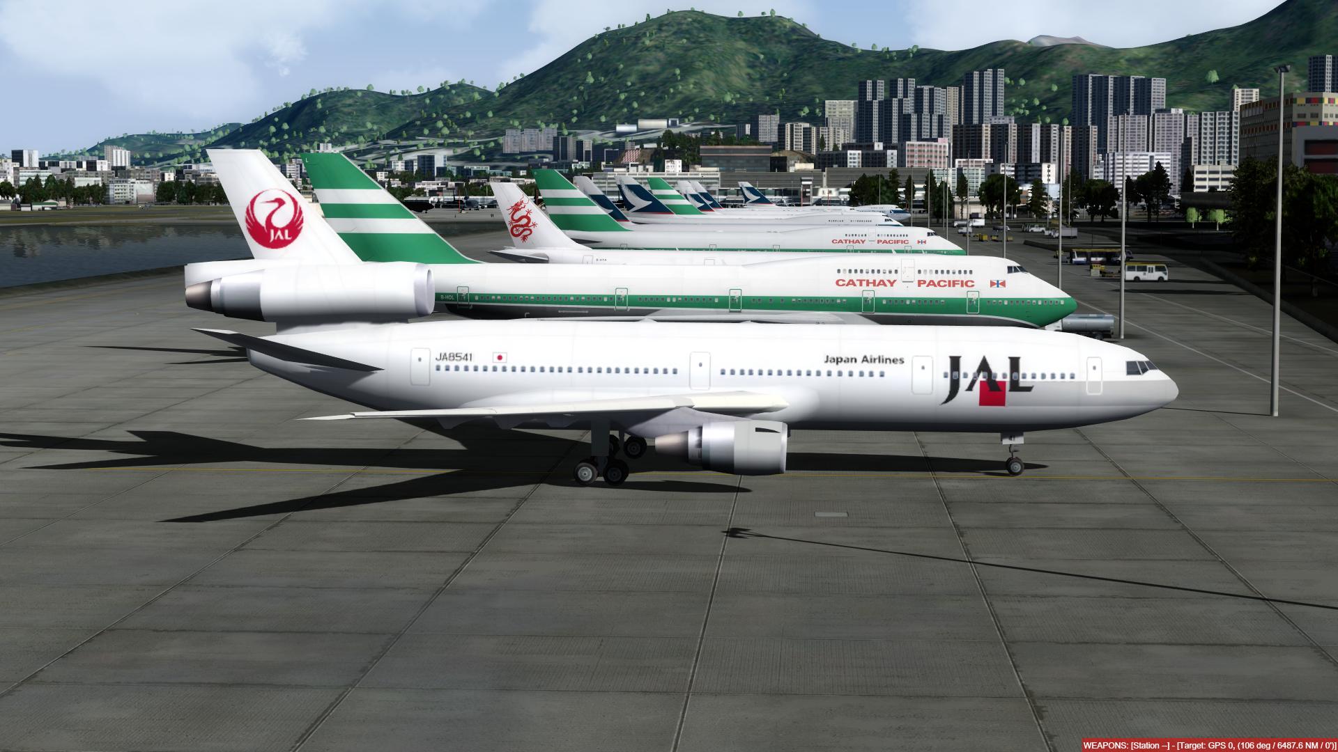 aeroporto - O dia a dia em Hong Kong Kai Tak - O aeroporto mais emocionante do mundo! P3D V4.4 - Só trafego AI. Captura-de-Tela-248