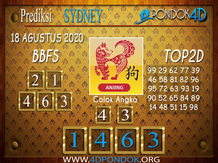 Prediksi Togel SYDNEY PONDOK4D 18 AGUSTUS 2020