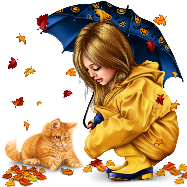 little girl in raincoat with a kitty png 12b9d07e8a89c87a2.png