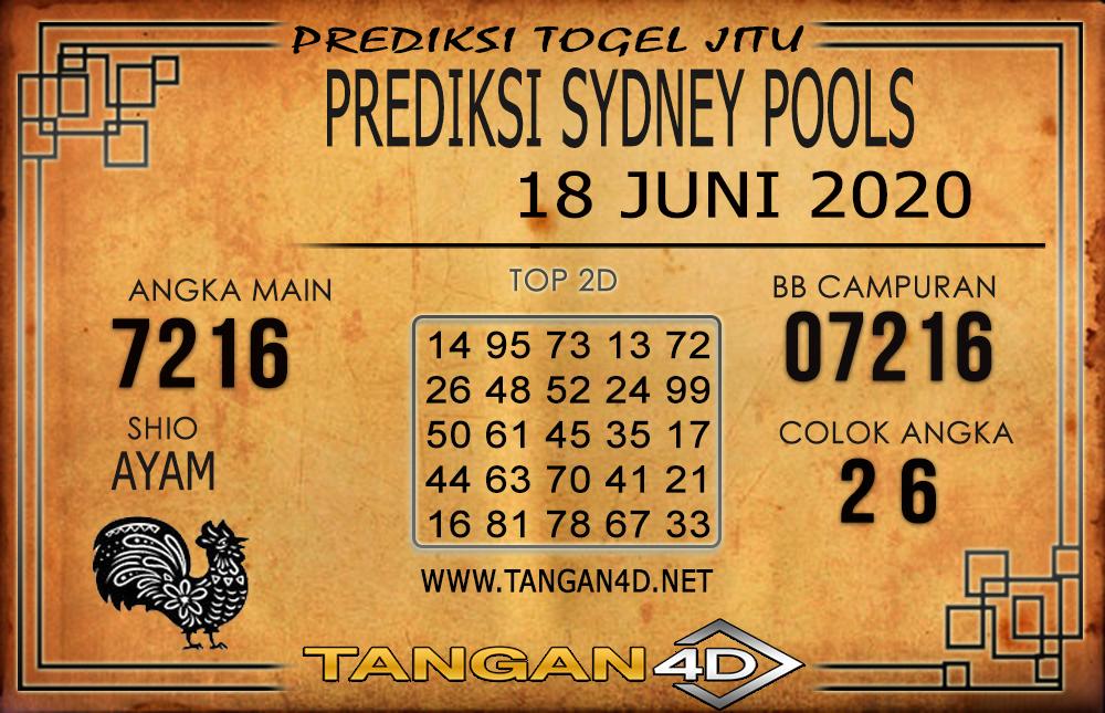 PREDIKSI TOGEL SYDNEY TANGAN4D 18 JUNI 2020