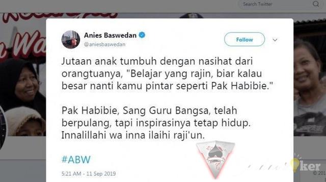 Mengharukan Pesan Haru Anies Baswedan Kepada Muda Mudi Indonesia