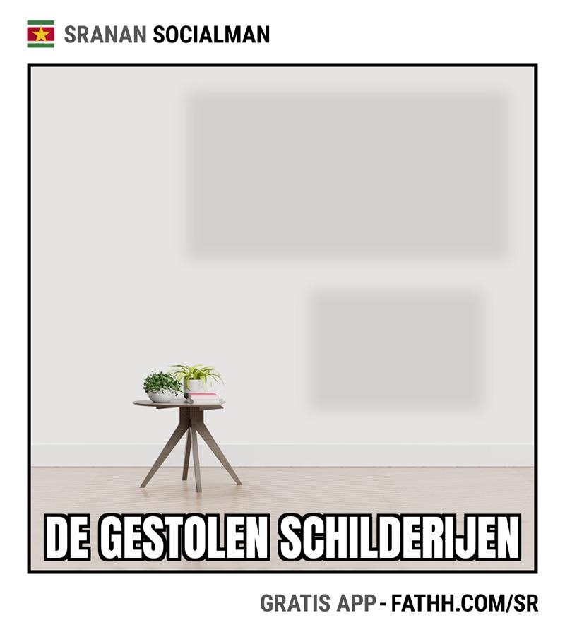 Sranan Socialman : Ceci n'est pas un peinture