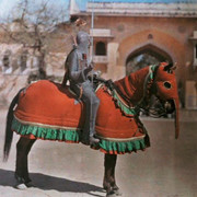 A-warrior-is-ready-for-a-tournament-in-Jaipur-India-Photography-by-Franklin-Price-Knott-1929