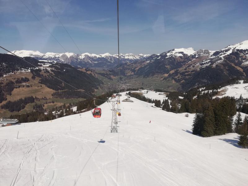 View on Zweisimmen from gondola