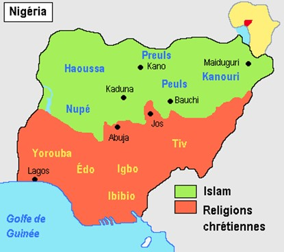 Répartition religieuse au Nigeria