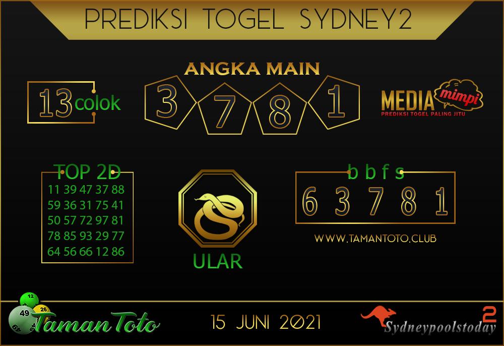 Prediksi Togel SYDNEY 2 TAMAN TOTO 15 JUNI 2021