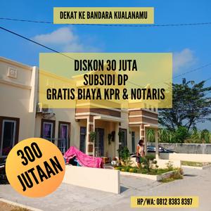 Rumah Murah Tanpa DP Gratis Biaya KPR Dan Notaris Di Taman Palem Mas Tanjung Morawa Medan
