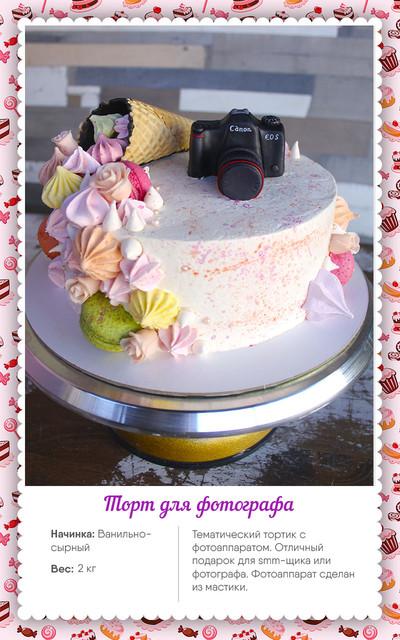 торт на заказ для фотографа