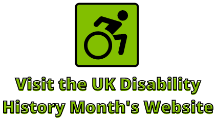 UK Disability History Month's Website Button