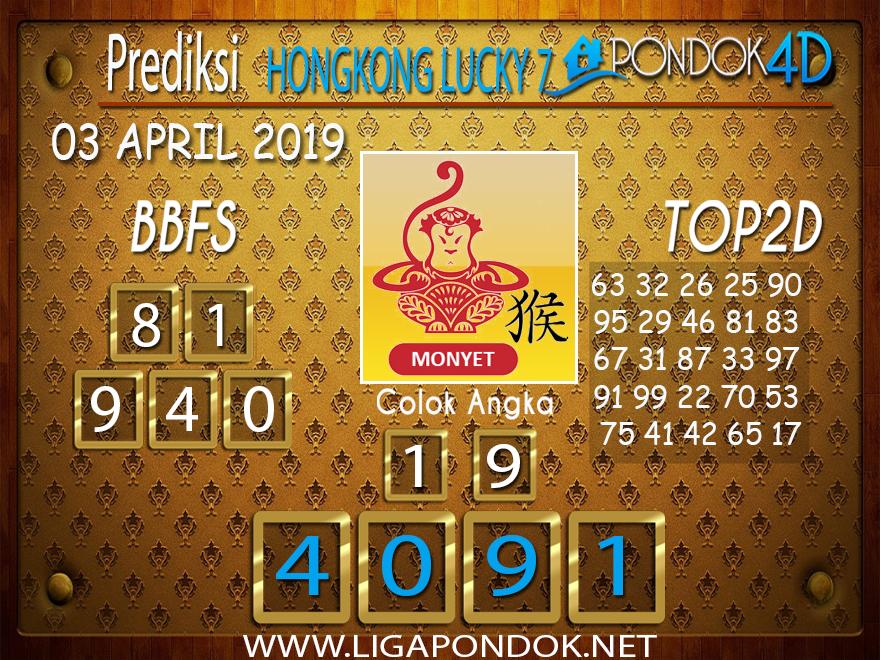 Prediksi Togel HONGKONG LUCKY 7 PONDOK4D 03 APRIL 2019