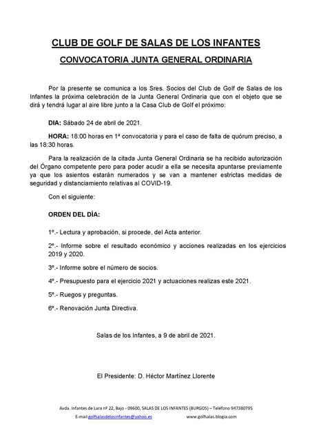 CONVOCATORIA-JUNTA-GENERAL-ORDINARIA-2021-CLUB-DE-GOLF