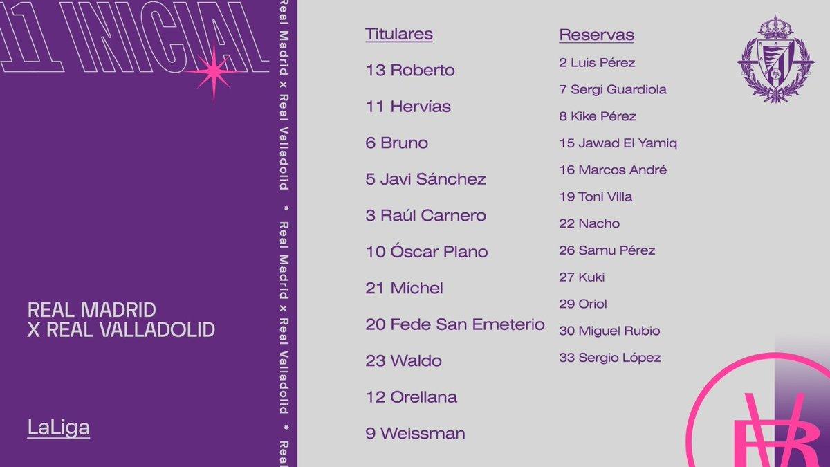 Real Madrid C.F. - Real Valladolid C.F. Miércoles 30 de Septiembre. 21:30 - Página 2 Once-VSmadrid