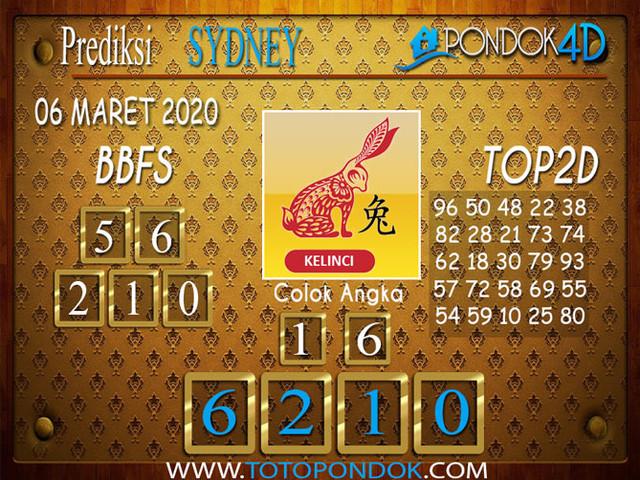 Prediksi Togel SYDNEY PONDOK4D 06 MARET 2020